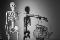 "Bill Schahfer - Royal Oak, MI,  Tea With Mr. Bones, photography, 24"" x 29"""